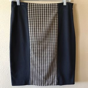 Cynthia Rowley Houndstooth Pencil Skirt